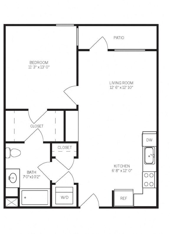 Floor Plans A5 at AVE Walnut Creek, California, 94596