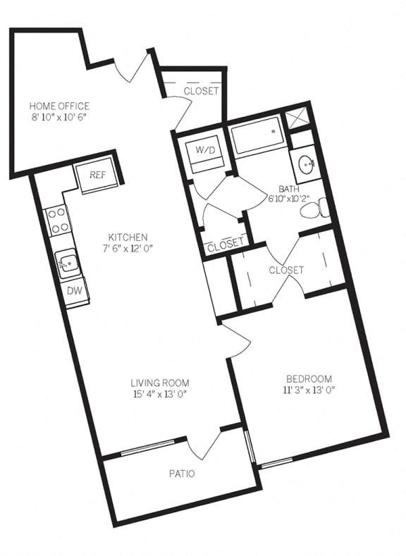Floor Plans A8 at AVE Walnut Creek, Walnut Creek, CA
