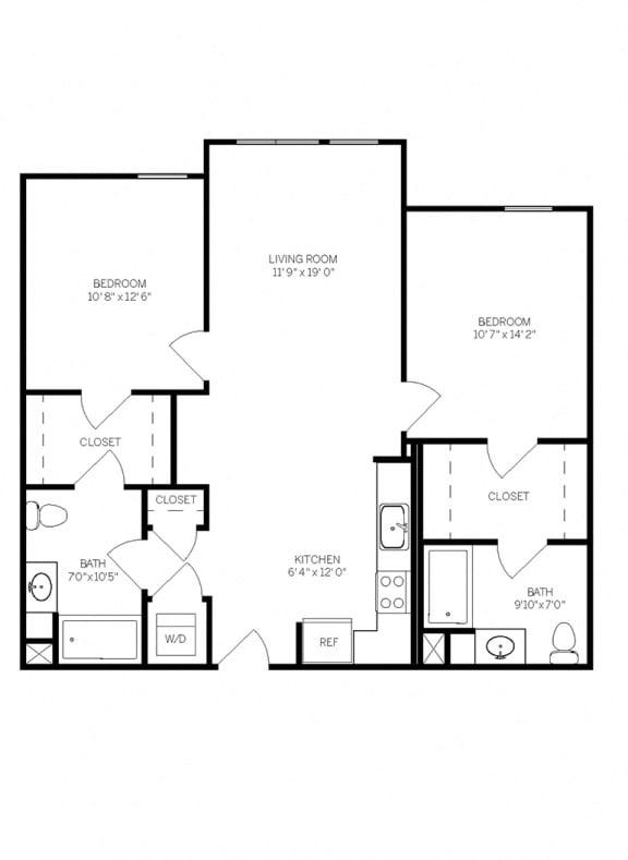Floor Plans B1A at AVE Walnut Creek, Walnut Creek, 94596