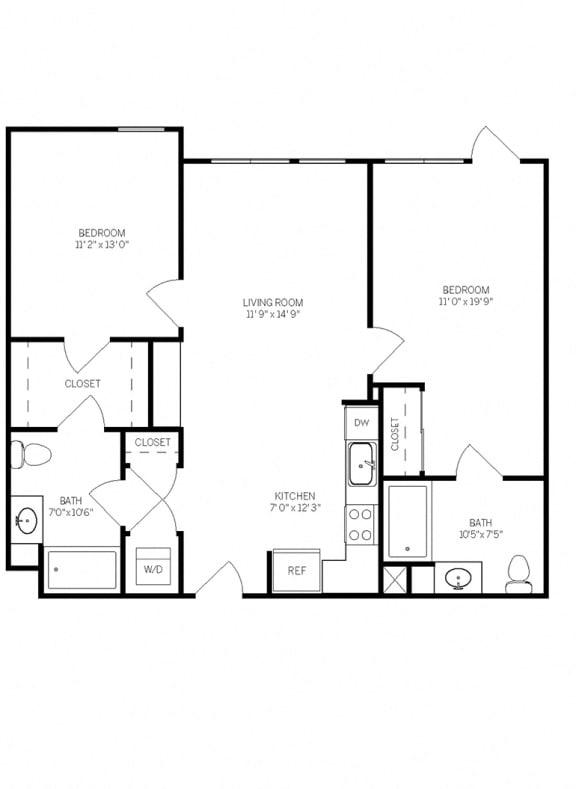 Floor Plans B1L at AVE Walnut Creek, California