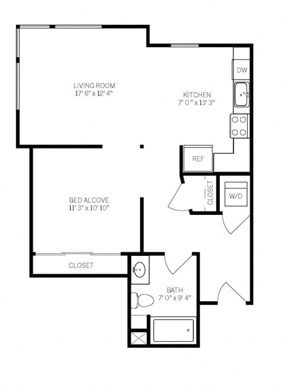 Floor Plans E2 at AVE Walnut Creek, Walnut Creek