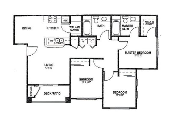 3x2 Floor plans available at Agave Apartments in Elk Grove, CA 95757