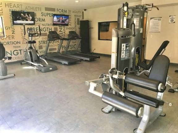 Gym with cardio equipment  Apts in North Hollywood CA 91605 | Canyon Village