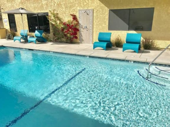 Pool withseating  Apts in North Hollywood CA 91605 | Canyon Village