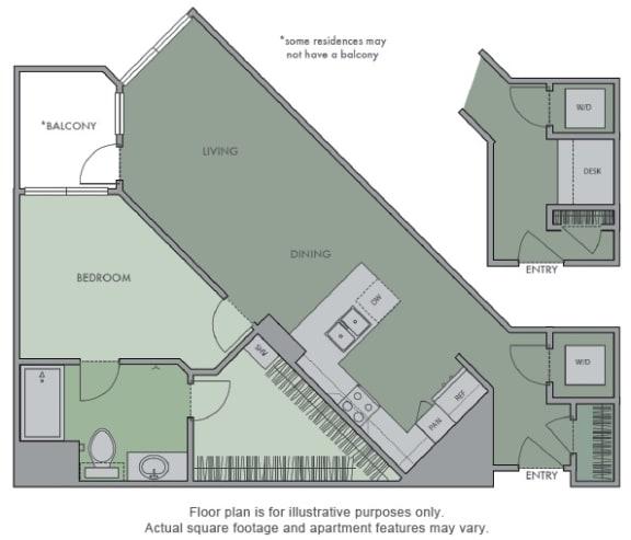Floor Plan  D(1) Floor Plan at Olympic by Windsor