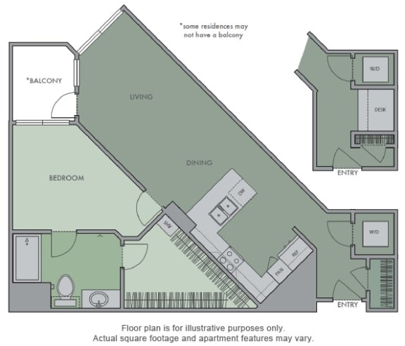 Floor Plan  D Floor Plan at Olympic by Windsor