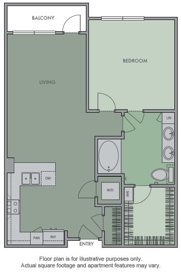 Floor Plan  E(1) Floor Plan at Olympic by Windsor