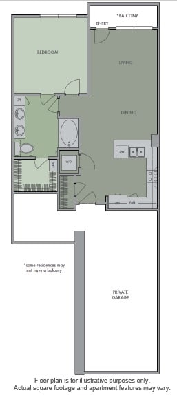 Floor Plan  Garage Balcony at Olympic by Windsor