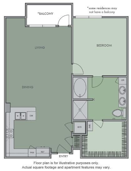 Floor Plan  G(1) Floor Plan at Olympic by Windsor