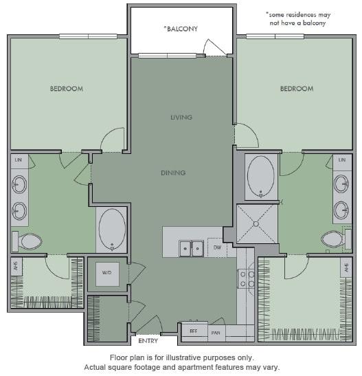 Floor Plan  K Floor Plan at Olympic by Windsor