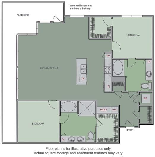 Floor Plan  M Floor Plan at Olympic by Windsor