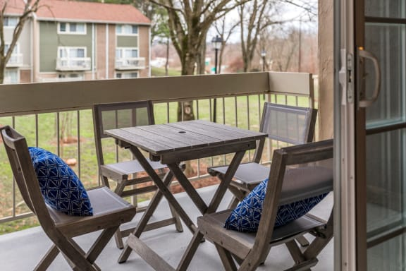 Private Balconies and Patio with Beautiful View at The Brook at Columbia, Columbia, 21044