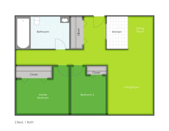 2 bedroom floorplan layout