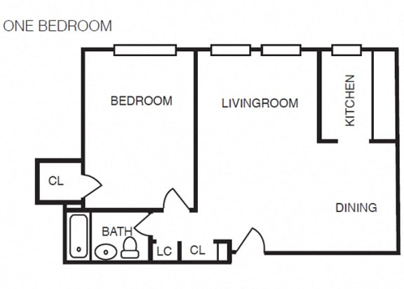 The Crestmont - A1 - 1 bedroom and 1 bath