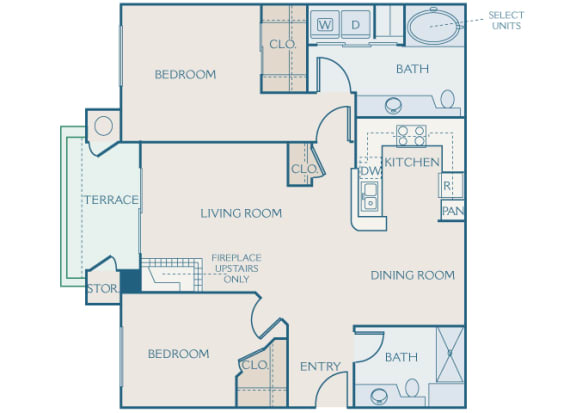 Preserve at Blue Ravine - B1 - Cottonwood - 2 bedroom - 2 bath - 2D