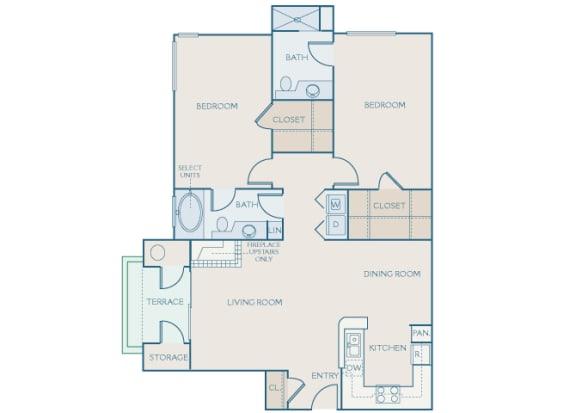 Preserve at Blue Ravine - B2 - White Adler - 2 bedroom - 2 bath - 2D