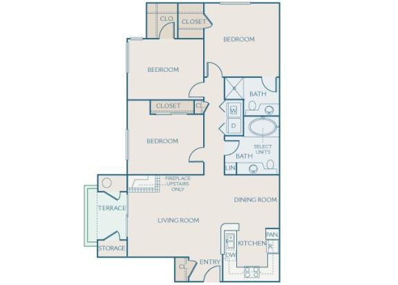 Preserve at Blue Ravine - C1 - Blue Oak - 3 bedroom - 2 bath - 2D