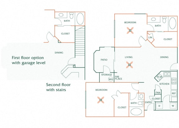 Sonterra Apartments at Paradise Valley - B3 (Sapphire) - 2 bedroom and 2 bath