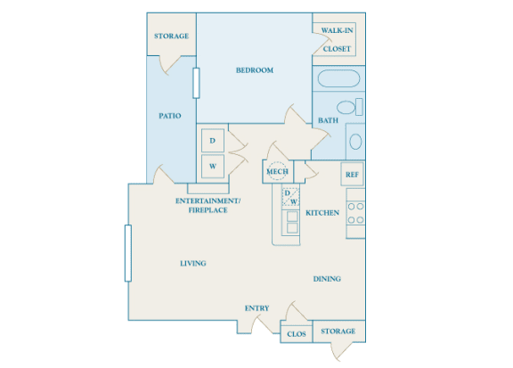 Cheswyck at Ballantyne Apartments - A1 (Abbey) - 1 bedroom and 1 bath