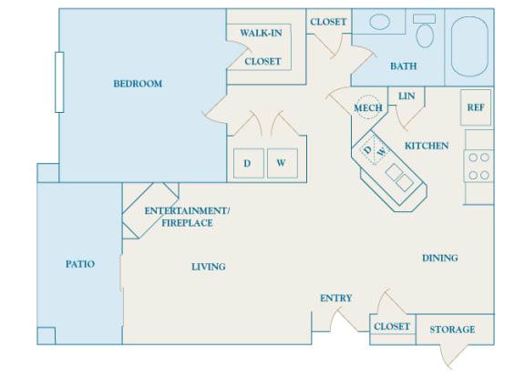 Cheswyck at Ballantyne Apartments - A3 (Arlington) - 1 bedroom and 1 bath