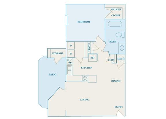 Cheswyck at Ballantyne Apartments - A4 (Ashton) - 1 bedroom and 1 bath