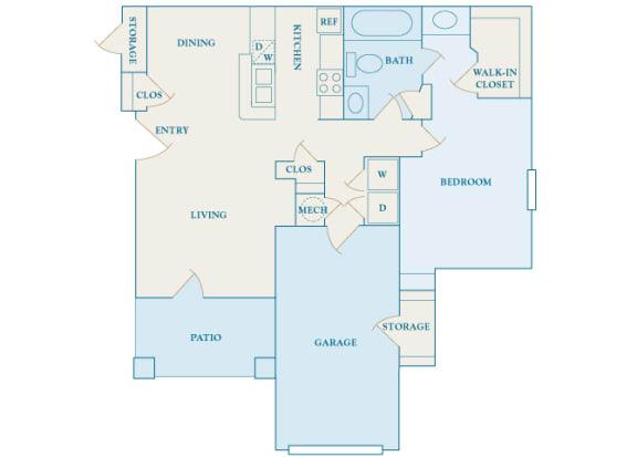 Cheswyck at Ballantyne Apartments - A5 (Auburn) - 1 bedroom and 1 bath