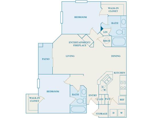 Cheswyck at Ballantyne Apartments - B2 (Canterbury) - 2 bedrooms and 2 bath