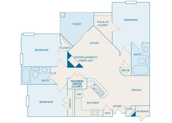 Cheswyck at Ballantyne Apartments - C1 (Durham) - 3 bedrooms and 2 bath