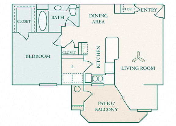 The Commons - A1 - Andover - 1 bedroom - 1 bath