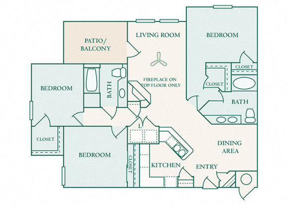 The Commons - C1 - Dorchester - 3 bedroom - 2 baths