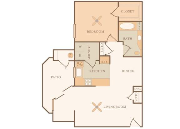 Mountain Shadows - A1 (Andorra) - 1 Bedroom and 1 Bath - 2D floor plans
