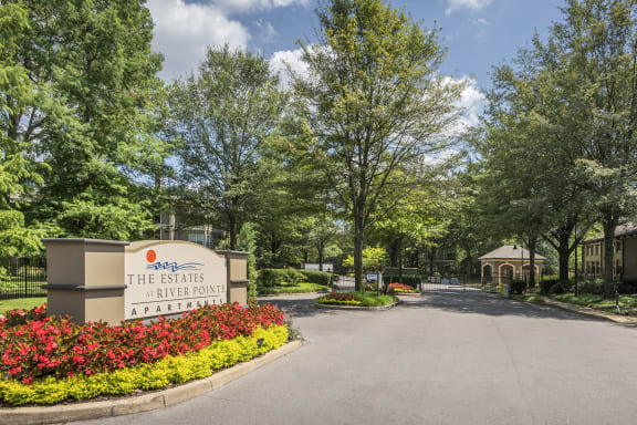 The Estates at River Pointe Controlled access gated community