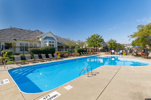 The Gardens at Polaris resort-style swimming pool