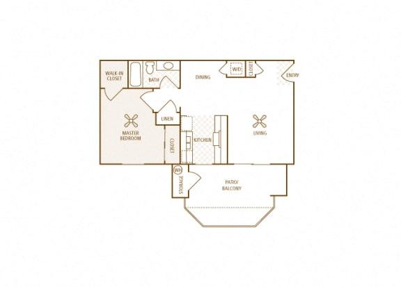 Arrowhead Landing Apartments - A1 (Port) - 1 bedroom and 1 bath