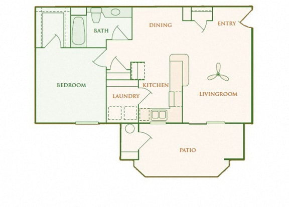 Willow Springs - Ashton - 1 bedroom - 1 bath