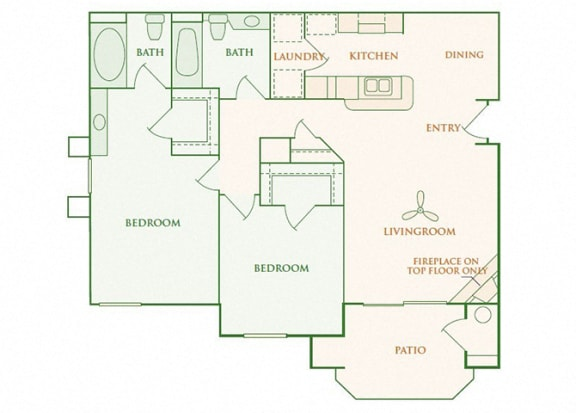 Willow Springs - Brighton - 2 bedroom - 2 bath