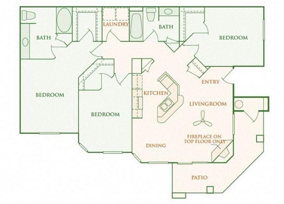 Willow Springs - Dover - 3 bedroom - 2 bath