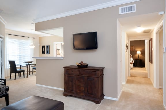 Lodge at Cypresswood - Crown molding in each apartment