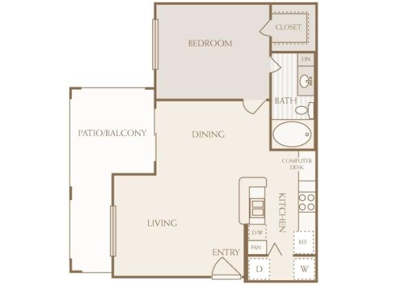 Lodge at Cypresswood - A1 - 1 bedroom - 1 bath