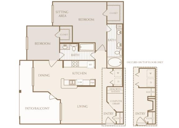 Lodge at Cypresswood - B4 - 2 bedroom - 2 bath
