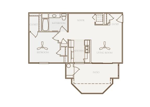 Barton Vineyard - A1 (Bordeaux) - 1 bedroom and 1 bath - 2D