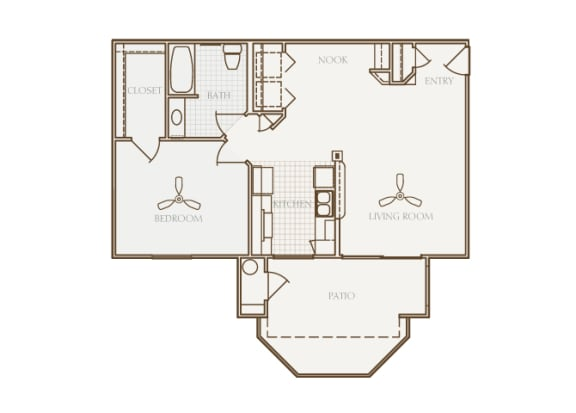 Barton Vineyard - A2 (Provence) - 1 bedroom and 1 bath - 2D