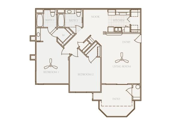 Barton Vineyard - B3 (Tuscany) - 2 bedrooms and 2 bath - 2D