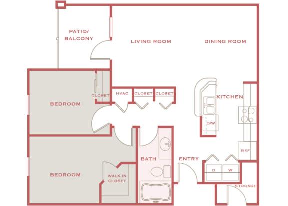 Cordillera Ranch B1 Isadoro 2 bedroom floor plan