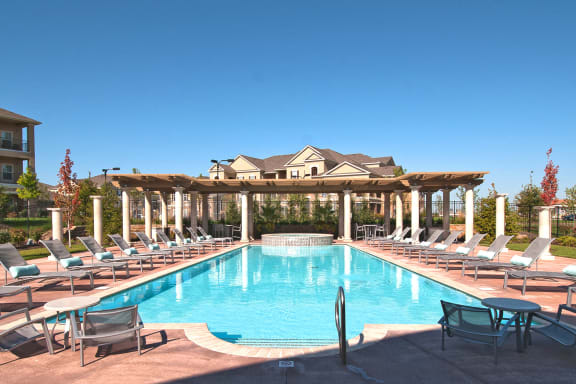 The Fairways at Corbin Park resort-style saltwater heated pool with spa