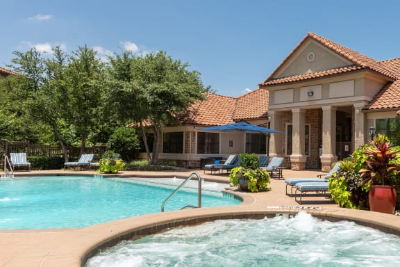 Delayne at Twin Creeks resort-style saltwater swimming pool and heated spa