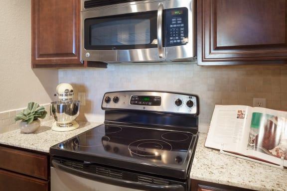 Monterra Las Colinas Apartments built-in microwaves