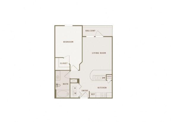 Monterra Las Colinas - A2 - 1 bedroom - 1 bath