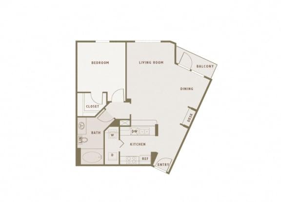 Monterra Las Colinas - A4 - 1 bedroom - 1 bath
