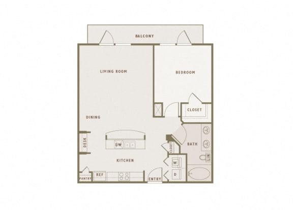 Monterra Las Colinas - A5 - 1 bedroom - 1 bath